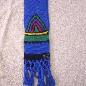 Vintage Rainbow Knit Scarf